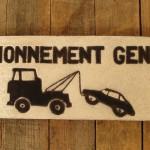 Plaque céramique stationnement