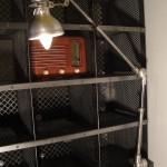Lampe d'atelier textile.