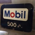 Plaque émaillée MOBIL